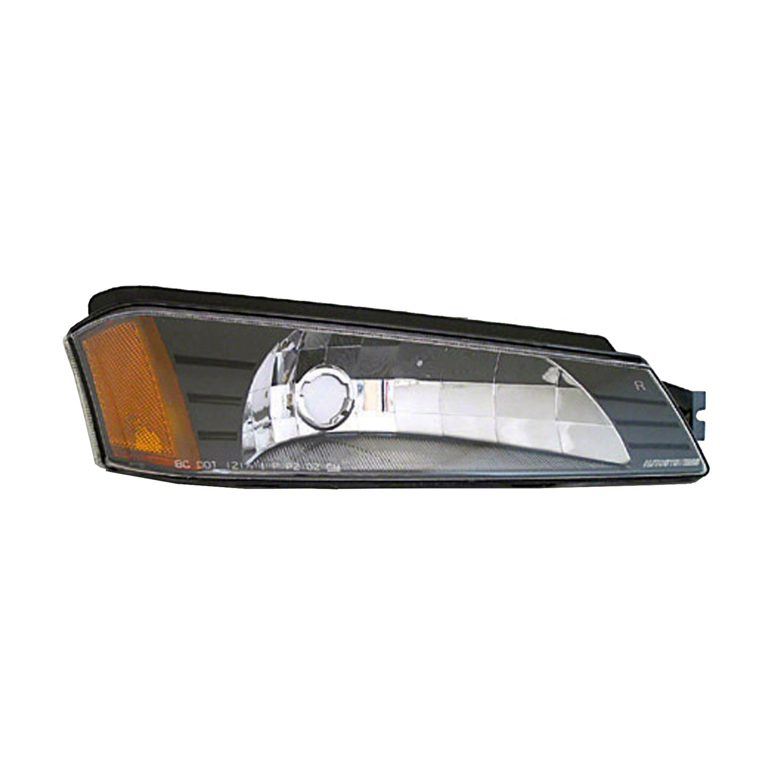 New Passenger Side Over Head Lamp Textured Clad Parking / Signal Lamp 15077337-V