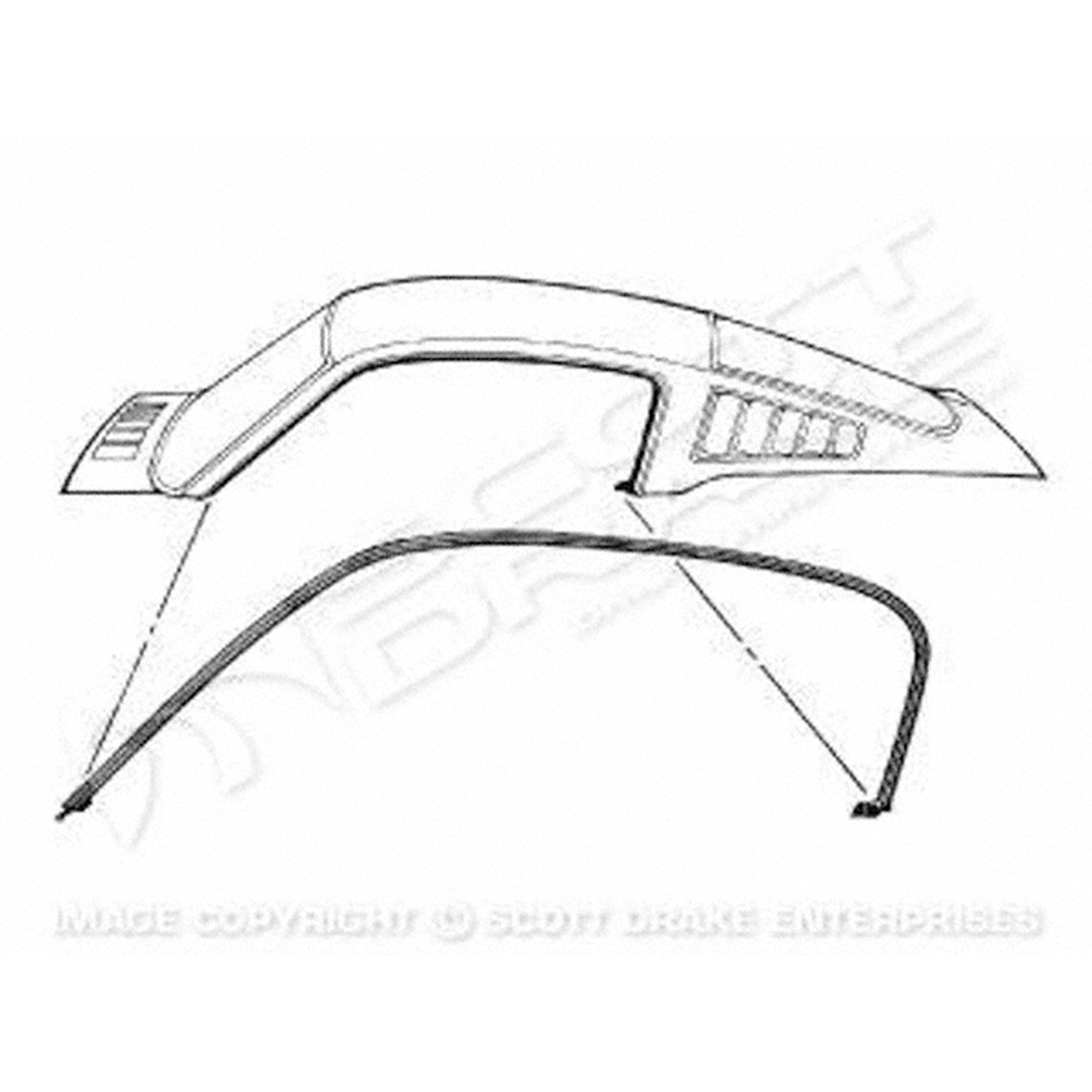 Roof Weatherstrips 1965-1966 Ford Mustang 3020-537-65P